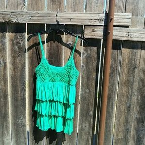 Rue 21 green tank top size size small
